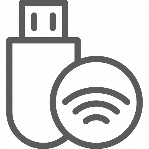 computers, devices, hardware, signal, stick, technology, usb icon