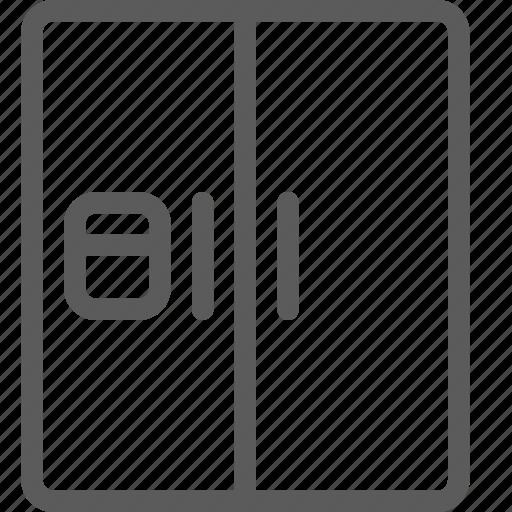 appliances, components, computers, double, electronics, refrigator, technology icon