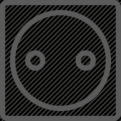 appliances, components, computers, electronics, eu, socket, technology icon