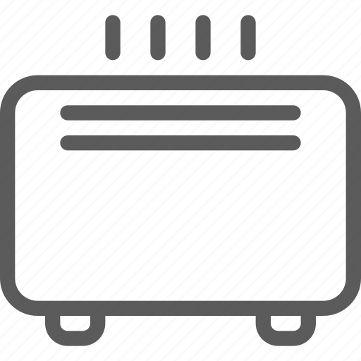 appliances, components, computers, electronics, heater, technology icon