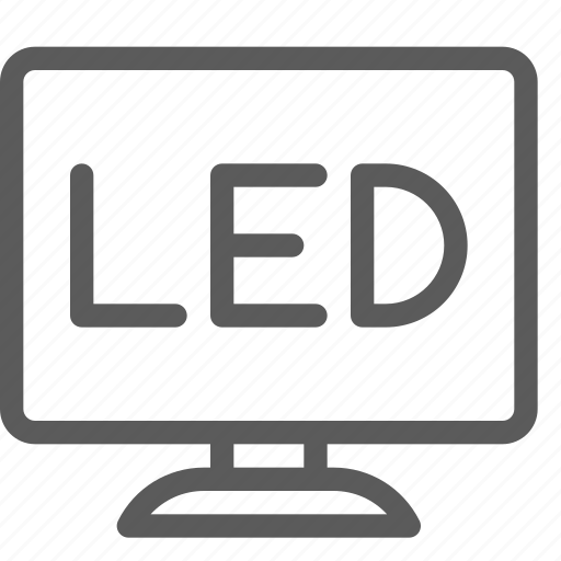 appliances, components, computers, electronics, led, monitor, technology icon