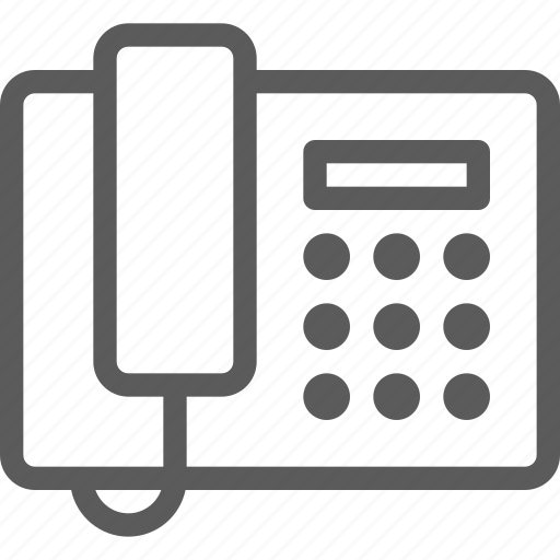 appliances, components, computers, electronics, fax, phone, technology icon