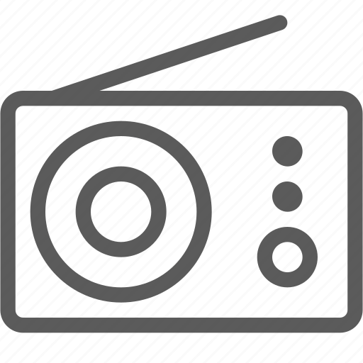 appliances, components, computers, electronics, pocket, radio, technology icon