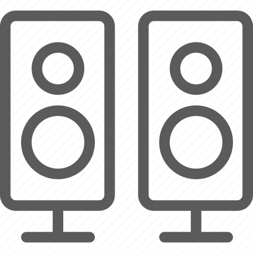 appliances, components, computers, electronics, speakers, technology icon