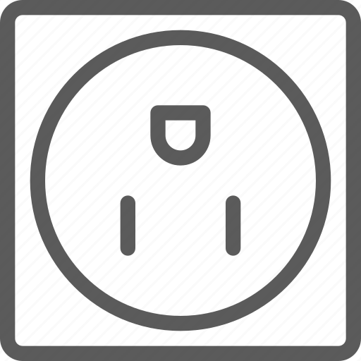appliances, components, computers, electronics, socket, technology, us icon