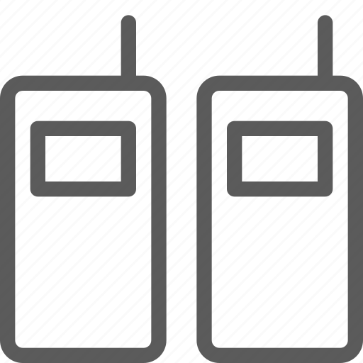 appliances, components, computers, electronics, talkies, technology, walkie icon