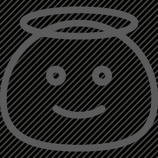 angel, chat, cute, emoji, emoticons, face icon