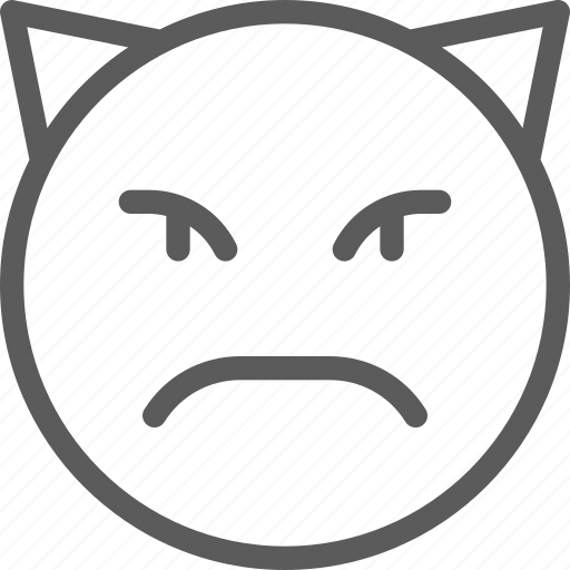 chat, communication, devil, emoji, emoticons, face icon