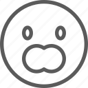 chat, communication, emoji, emoticons, face, gasp icon