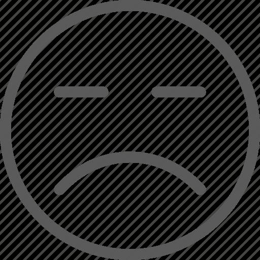 chat, communication, emoji, emoticons, face, grumpy icon