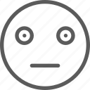chat, communication, emoji, emoticons, face, grumpy, shocked icon