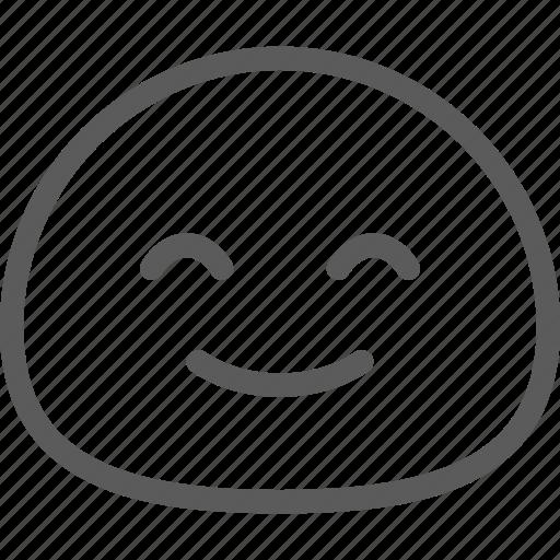 chat, cute, emoji, emoticons, face, happy icon