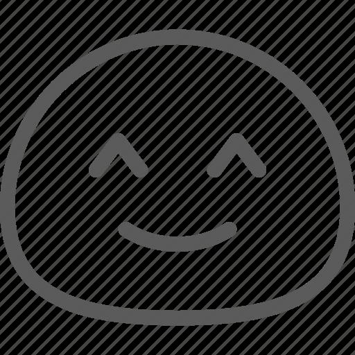cute, emoji, emoticons, face, happy, kiki icon