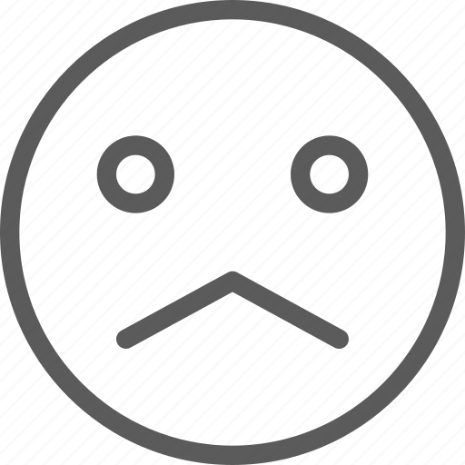 chat, communication, emoji, emoticons, face, sad icon