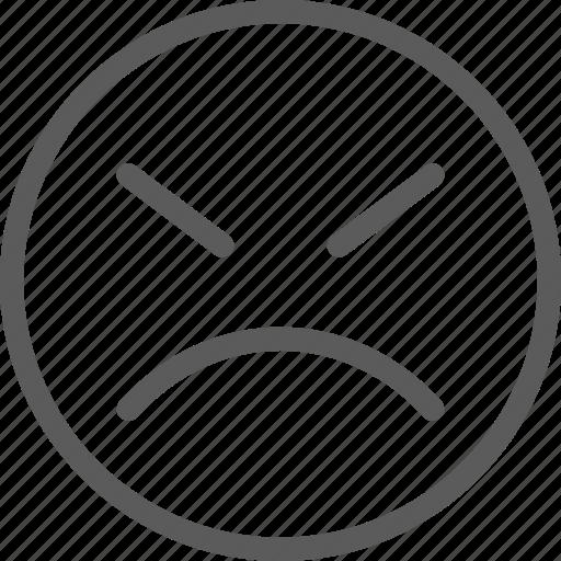 angry, chat, communication, emoji, emoticons, face, sad icon