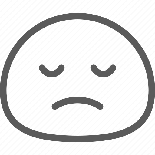 chat, cute, emoji, emoticons, face, sad icon