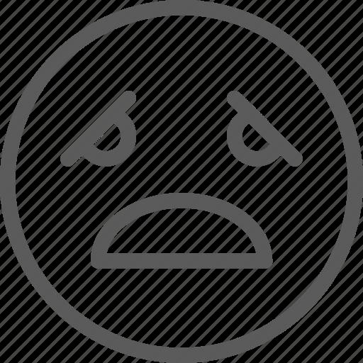 chat, communication, emoji, emoticons, face, pain, sad icon