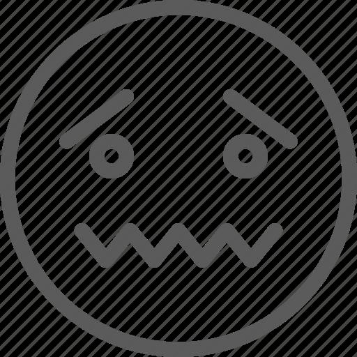 chat, communication, emoji, emoticons, face, sad, silent icon