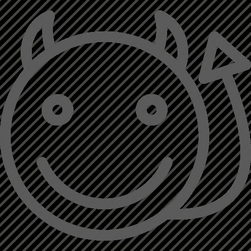 chat, communication, devil, emoji, emoticons, face, smart icon