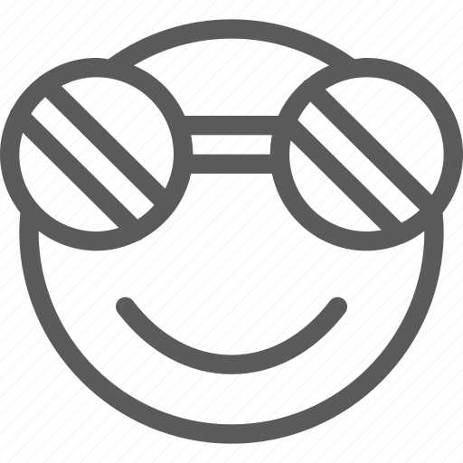 chat, communication, emoji, emoticons, face, smile, sunglasses icon