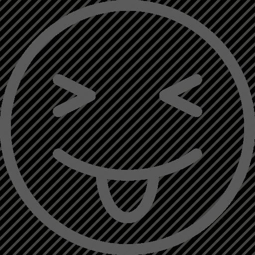 chat, communication, emoji, emoticons, face, kiki, tongue icon