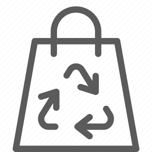 bag, ecology, efficiency, energy, power, recycling icon