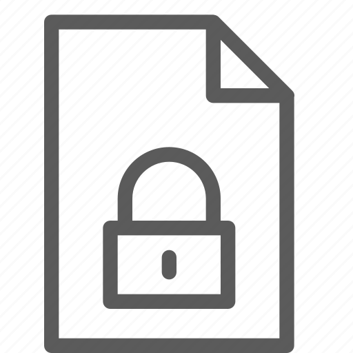 archive, digital, document, file, files, locked, note icon
