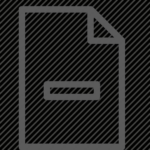 archive, digital, document, file, files, note, remove icon