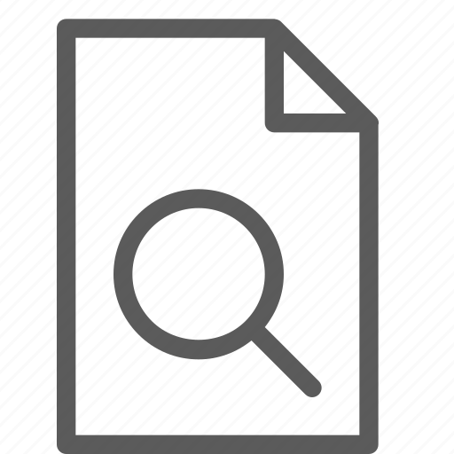 archive, digital, document, file, files, note, search icon