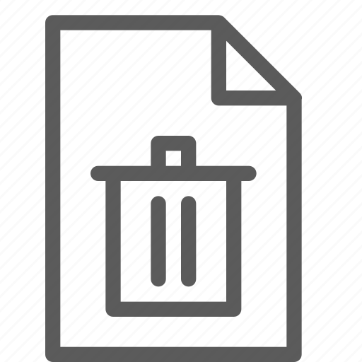 archive, digital, document, files, note, trash icon