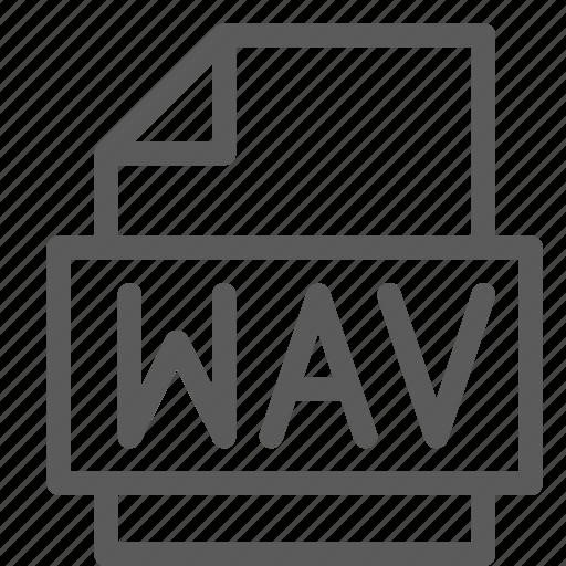 archive, digital, document, file, files, note, wav icon