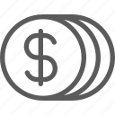 business, coins, commerce, economics, finance, money icon