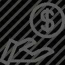 business, commerce, dollar, economics, finance, loan, money icon