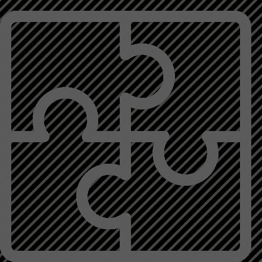 business, commerce, economics, finance, money, puzzle icon