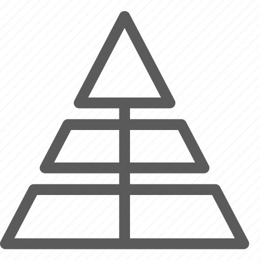 business, commerce, economics, finance, money, pyramid icon