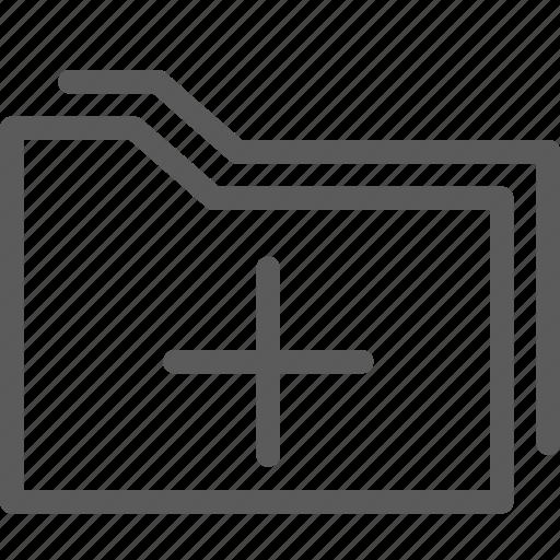 add, computer, digital, document, folders icon