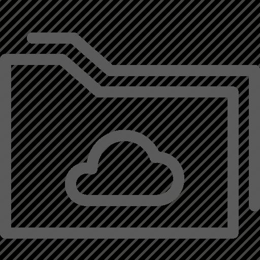 cloud, computer, digital, folders icon