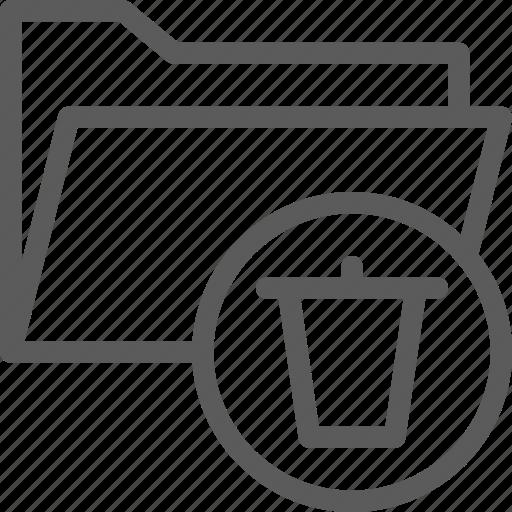 computer, delete, digital, document, folder, folders icon