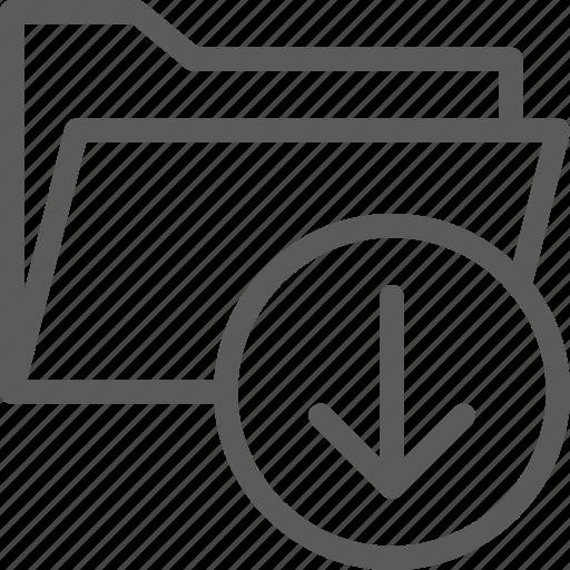 computer, digital, document, download, folder, folders icon