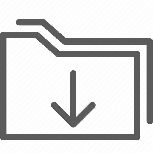 computer, digital, document, download, folders icon