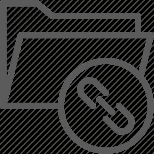 computer, digital, document, folder, folders, link icon
