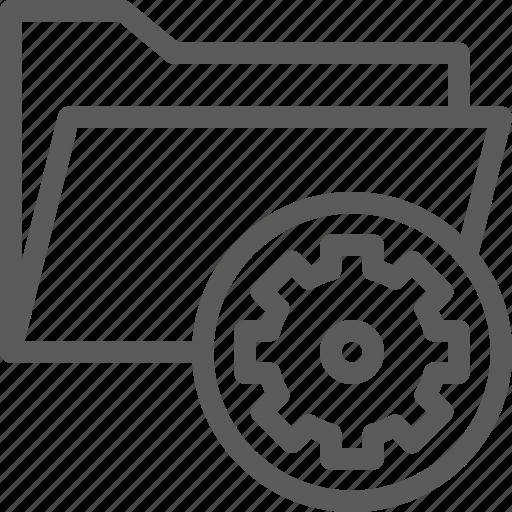 computer, digital, document, folder, folders, settings icon