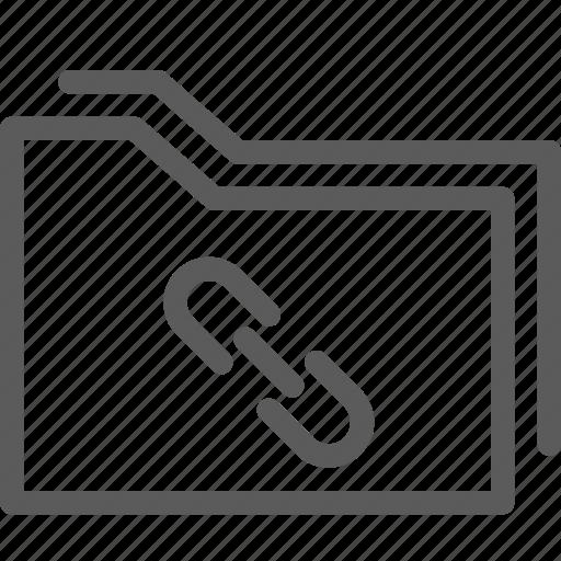 computer, digital, document, folders, link icon