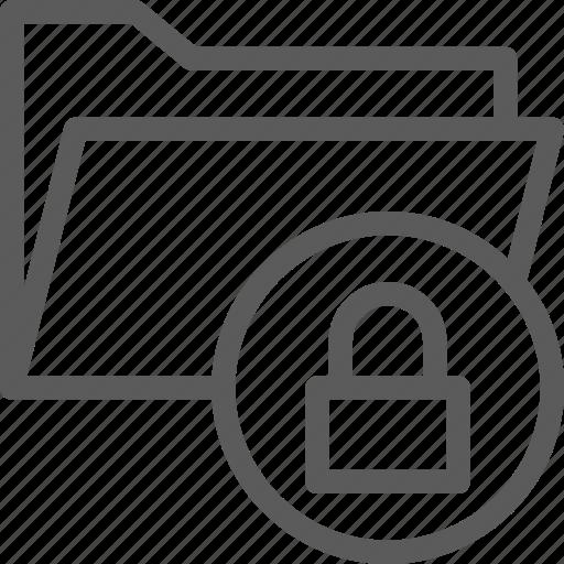 computer, digital, document, folder, folders, locked icon