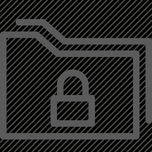computer, digital, document, folders, locked icon