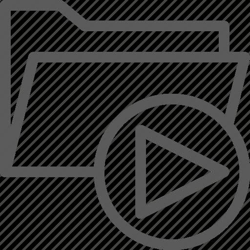 computer, digital, document, folder, folders, media icon