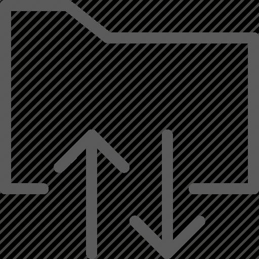 computer, digital, document, folders, move icon