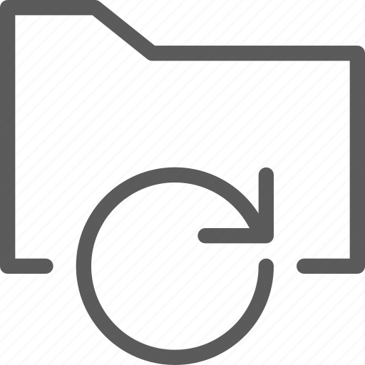 computer, digital, document, folder, folders, refresh icon