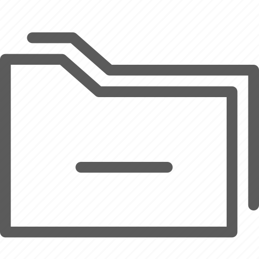 computer, digital, document, folders, remove icon