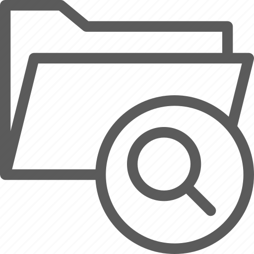 computer, digital, document, folder, folders, search icon